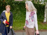 Dementia volunteer - street-cleaning 2018